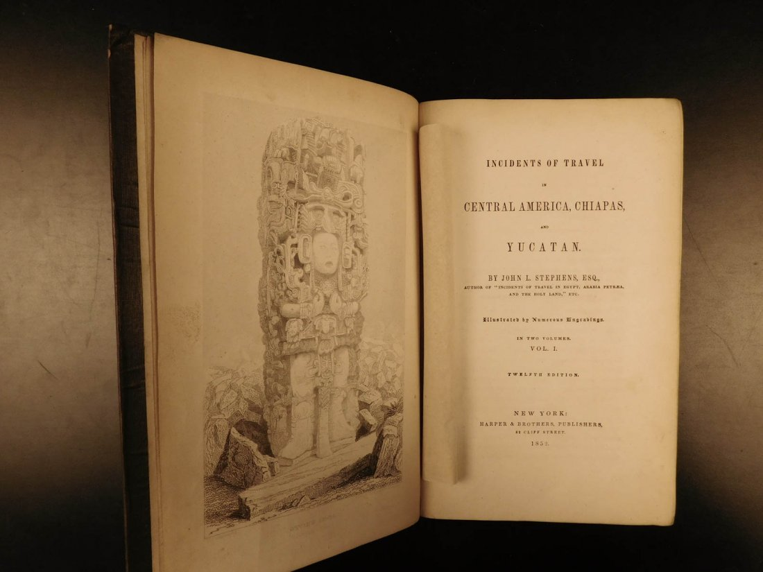1852 Yucatan Incidents of Travel John Stephens MAYA - 2