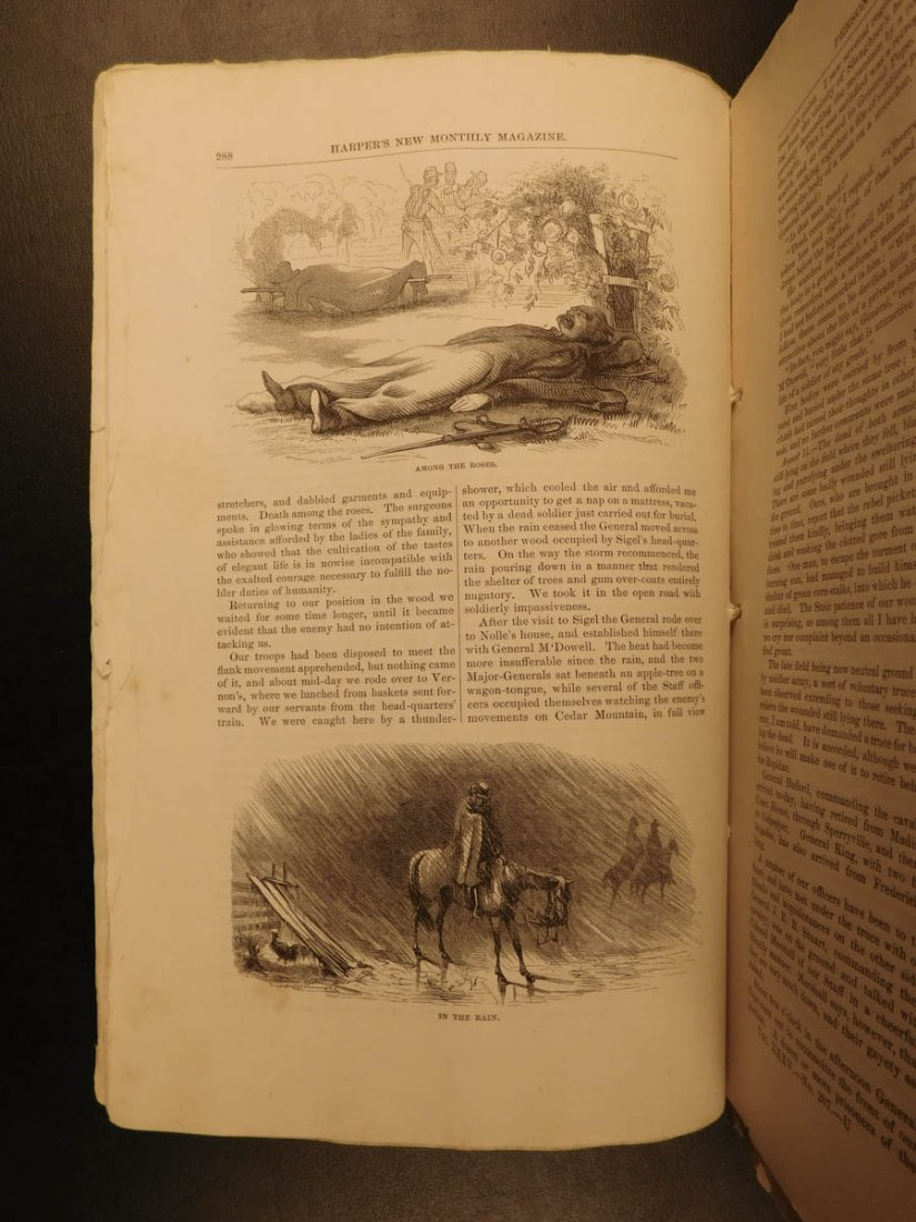 1867 Harper's Monthly Magazine Civil War Memoir Illus - 3