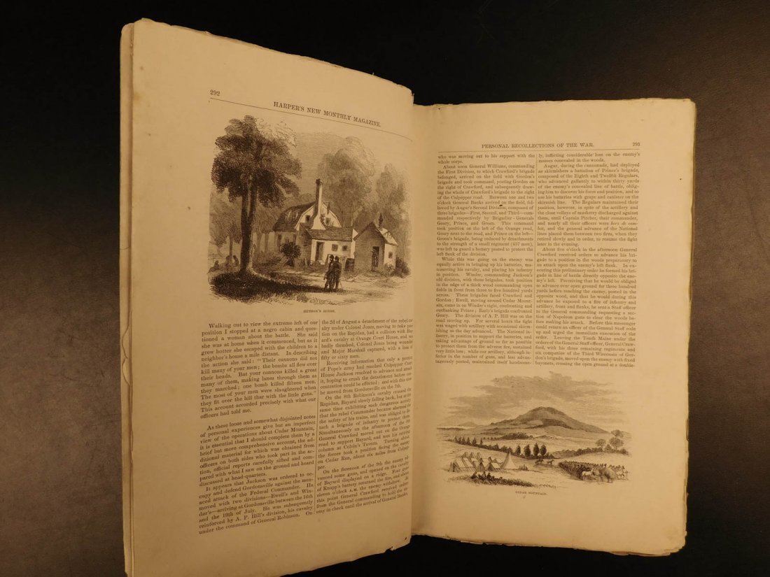 1867 Harper's Monthly Magazine Civil War Memoir Illus - 5