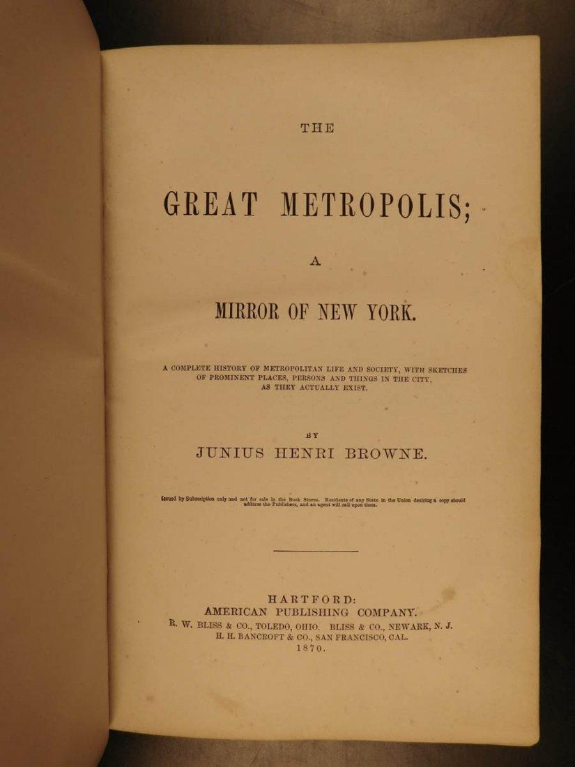 1870 NEW YORK City Great Metropolis History Susan B - 3