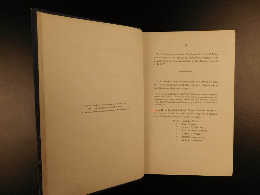 1878 Ahiman Rezon Freemason Guide Grand Lodge Masonic - 3