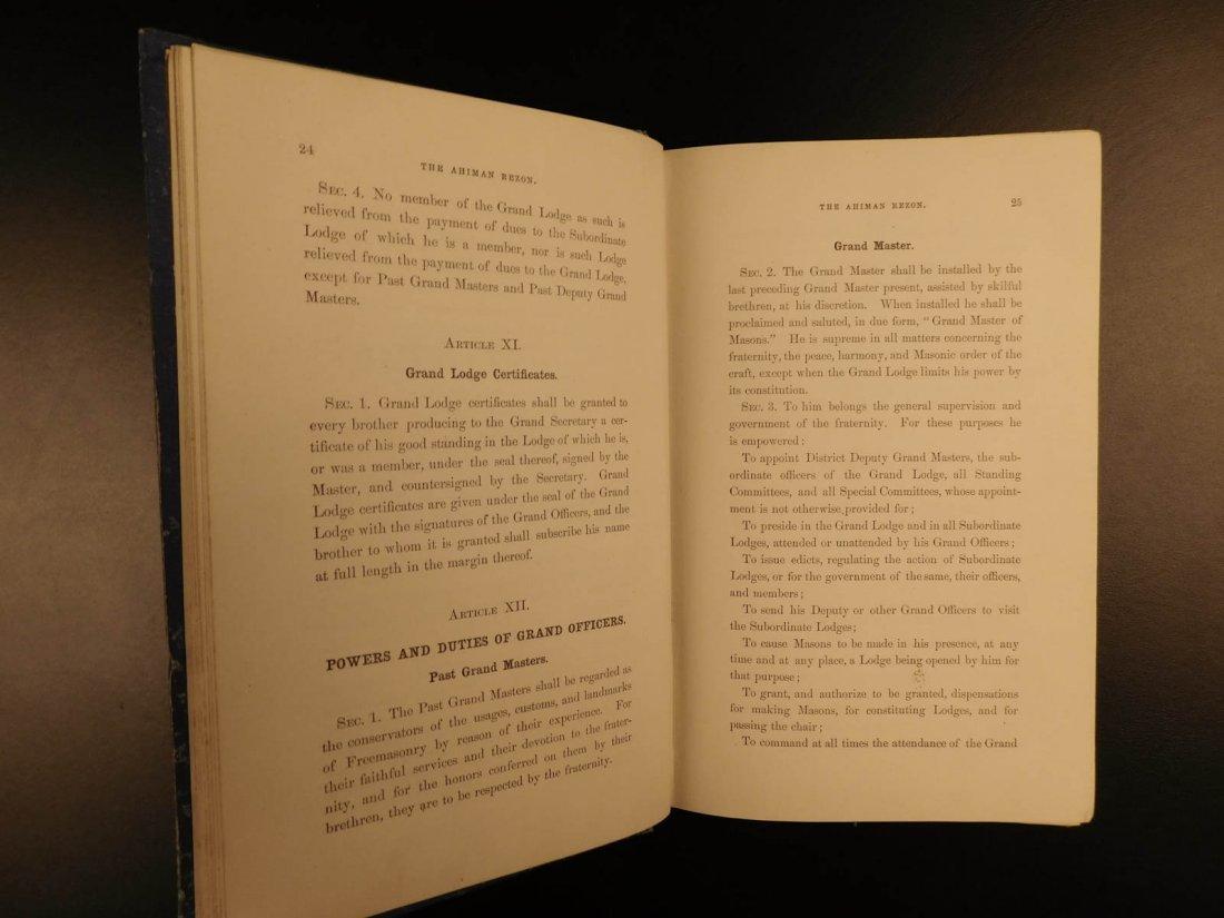 1878 Ahiman Rezon Freemason Guide Grand Lodge Masonic - 5