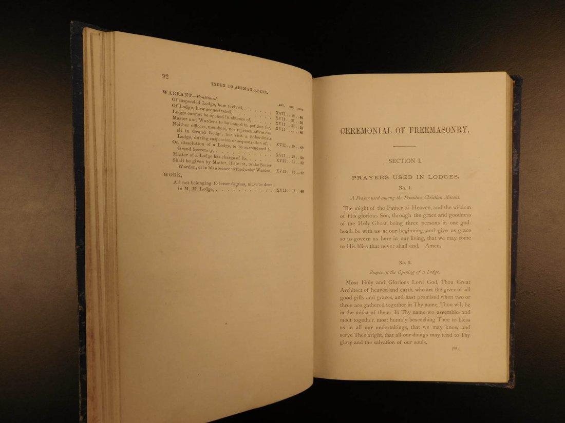 1878 Ahiman Rezon Freemason Guide Grand Lodge Masonic - 7