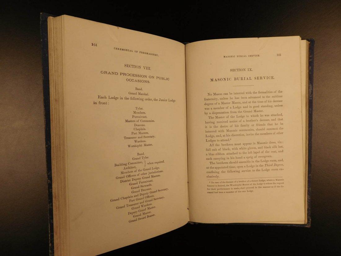 1878 Ahiman Rezon Freemason Guide Grand Lodge Masonic - 9