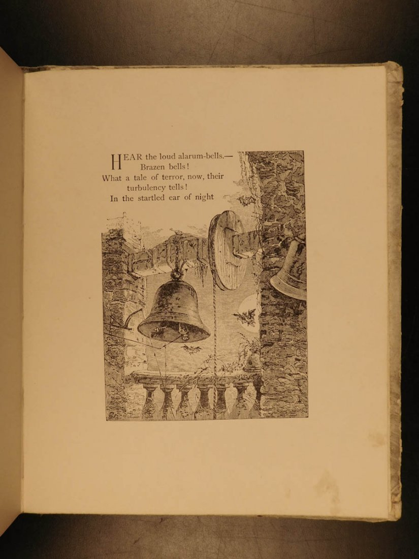1881 1st ed The Bells Edgar Allen POE Plates Esoteric - 10