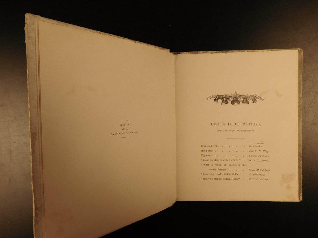 1881 1st ed The Bells Edgar Allen POE Plates Esoteric - 4