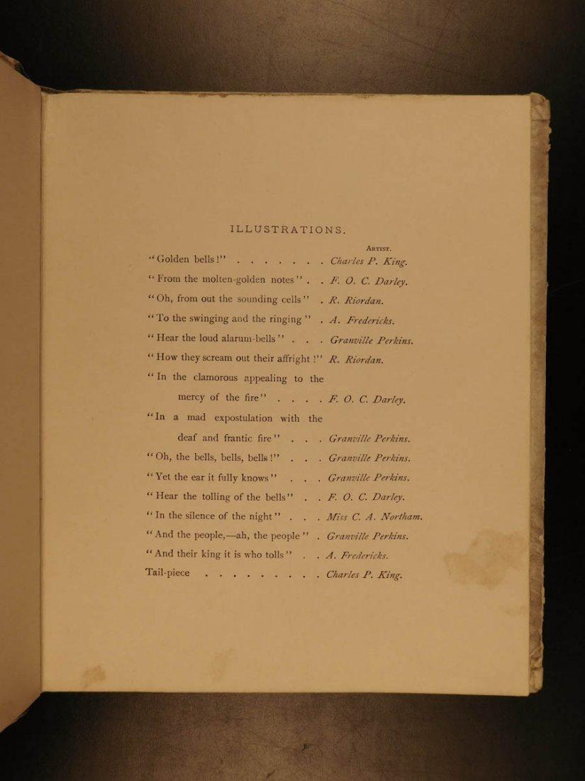 1881 1st ed The Bells Edgar Allen POE Plates Esoteric - 5