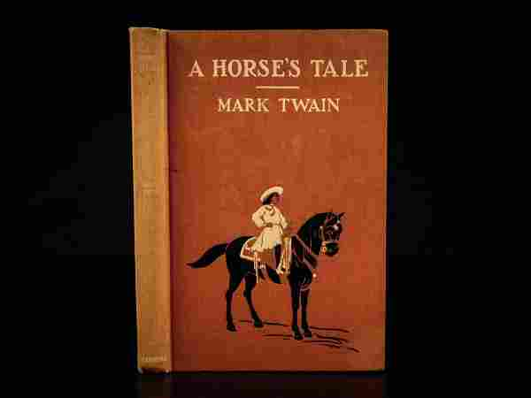 1907 1st ed Mark TWAIN Horses Tale Buffalo Bill Cody