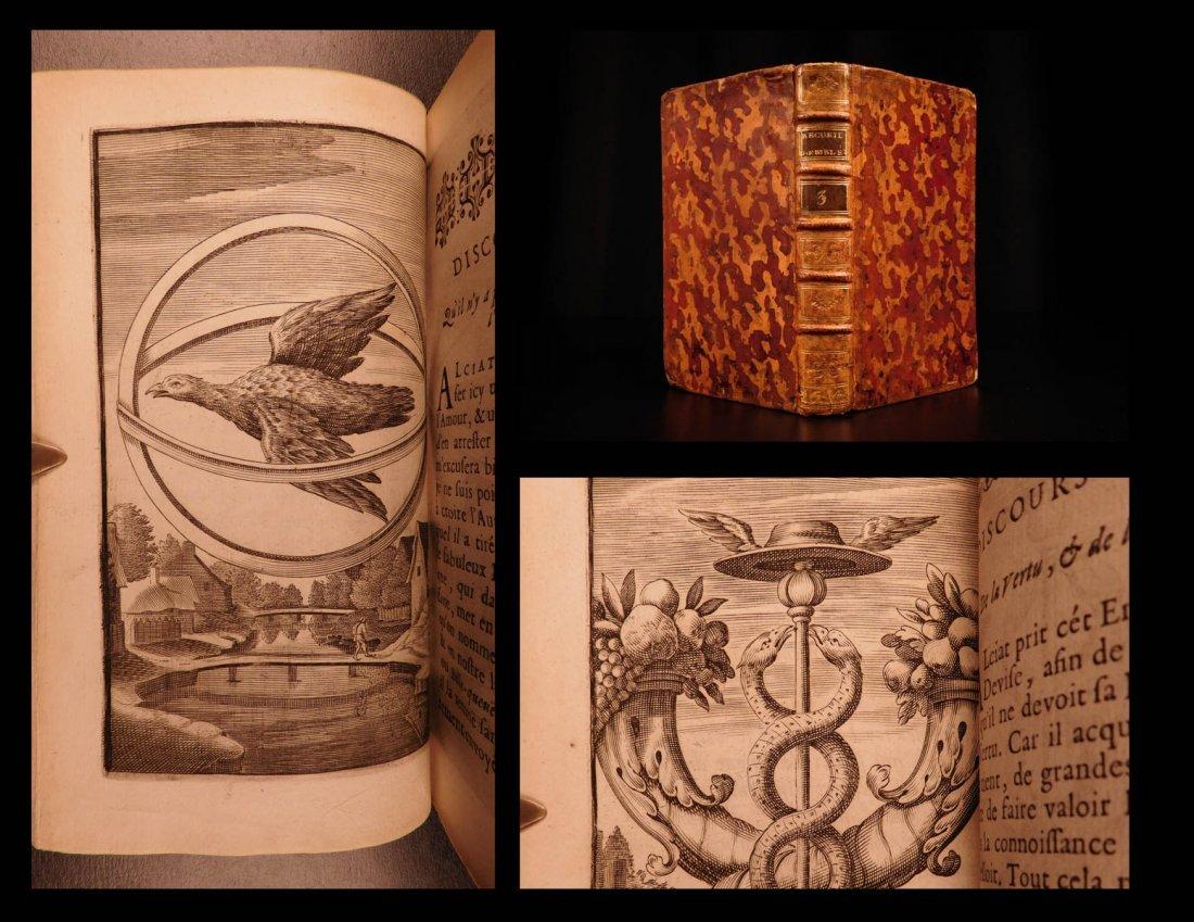 1685 EMBLEM BOOK Jean Baudoin French Emblems Science