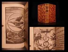 1685 EMBLEM BOOK Jean Baudoin French Emblems Science