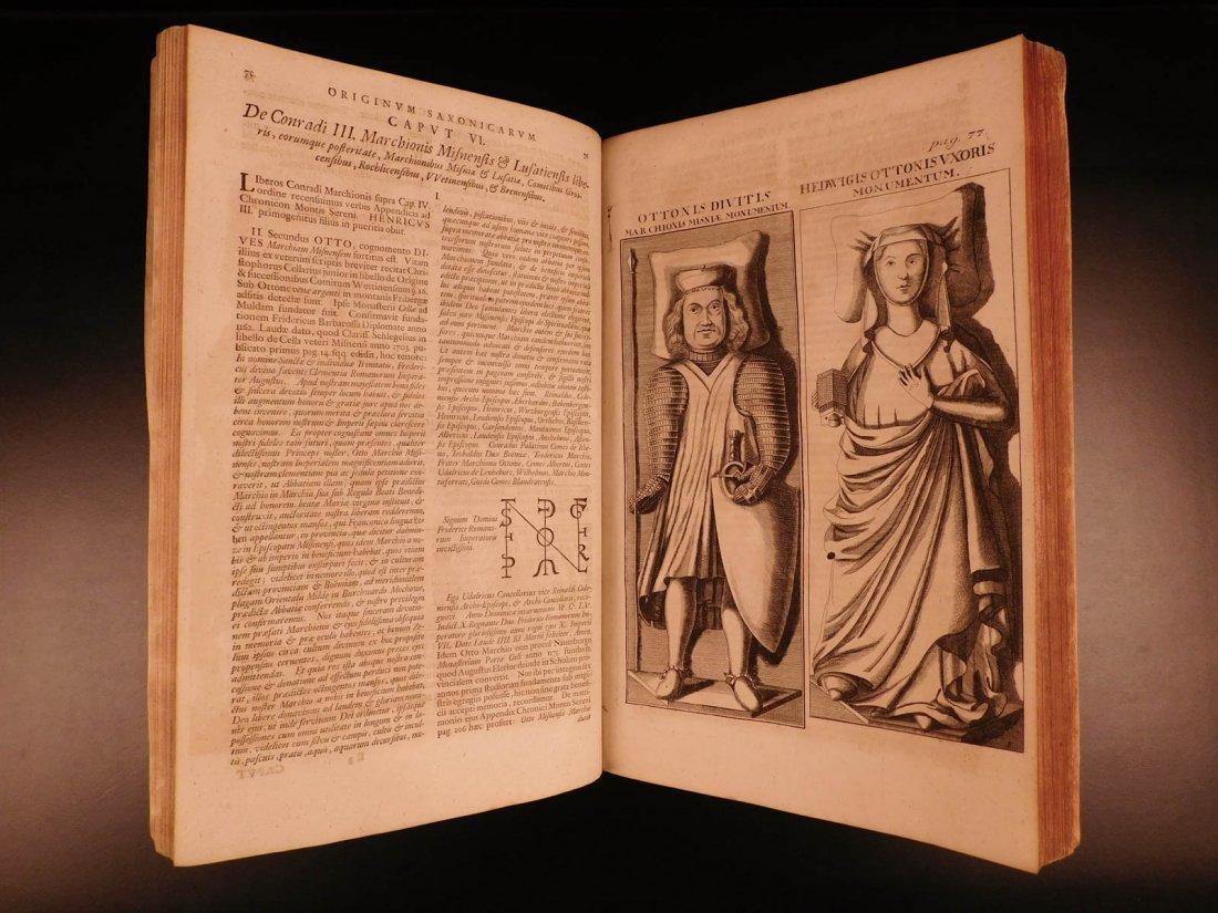 1722 SAXONY Eckhart Genealogy Upper Saxon Princes