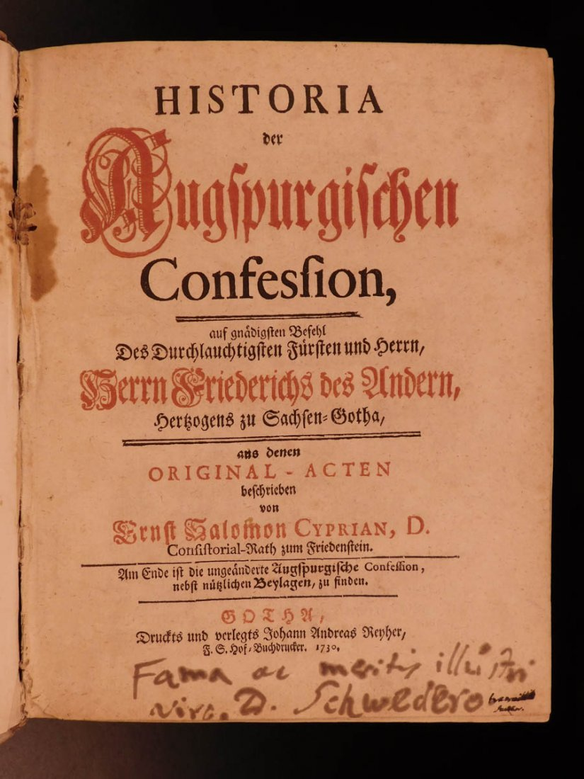 1730 RARE Augsburg Confession Lutheran Doctrine Luther