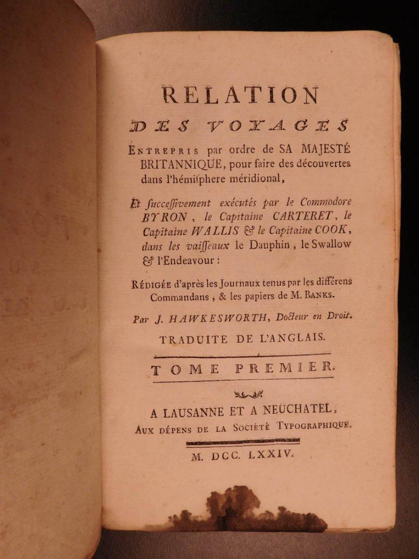 1774 1ed Voyages Captain Cook Pacific Ocean Wallis - 2