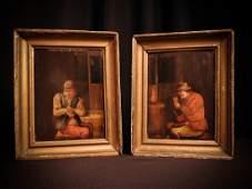 19thcentury Oil Paintings on Wood European School