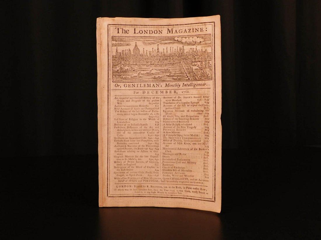 1761 London Magazine EGYPT Mythology American Trade