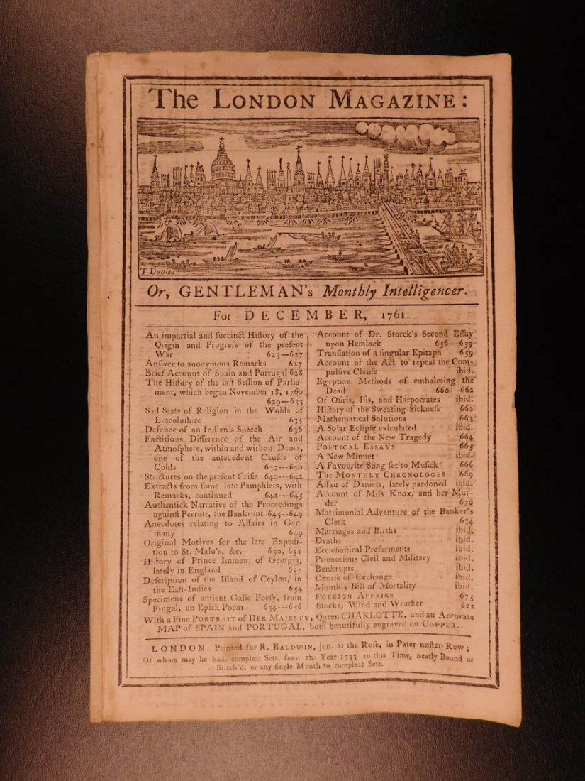 1761 London Magazine EGYPT Mythology American Trade - 2