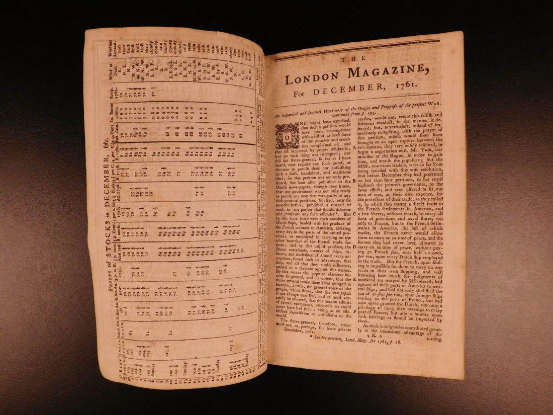 1761 London Magazine EGYPT Mythology American Trade - 3