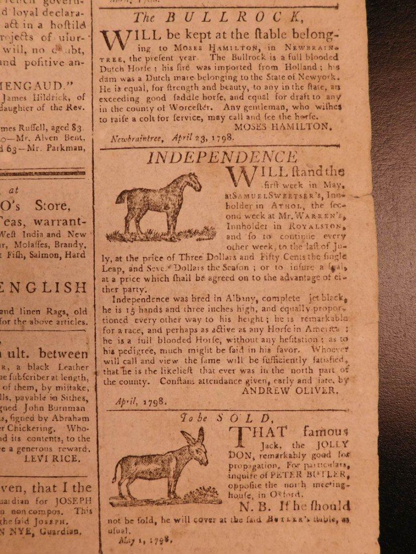 1798 Massachusetts Spy Isaiah Thomas Newspaper American - 10