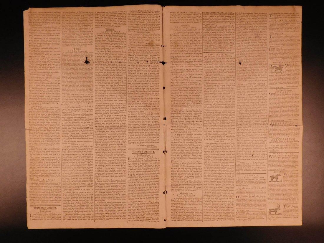 1798 Massachusetts Spy Isaiah Thomas Newspaper American - 3