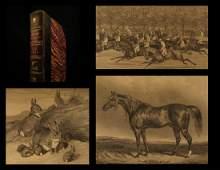 1852 1st ed Sporting Magazine Fox Hunting Dog Fighting