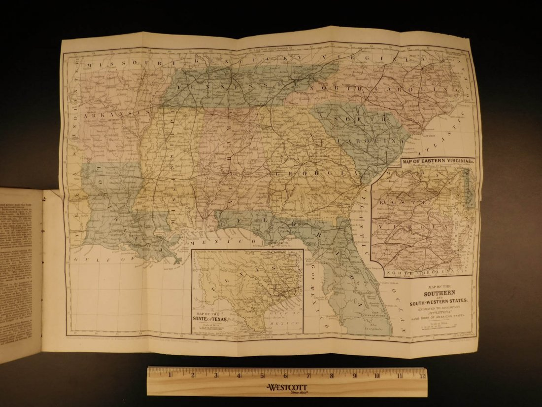 1866 MAPS Atlas Appleton Companion Travel Handbook