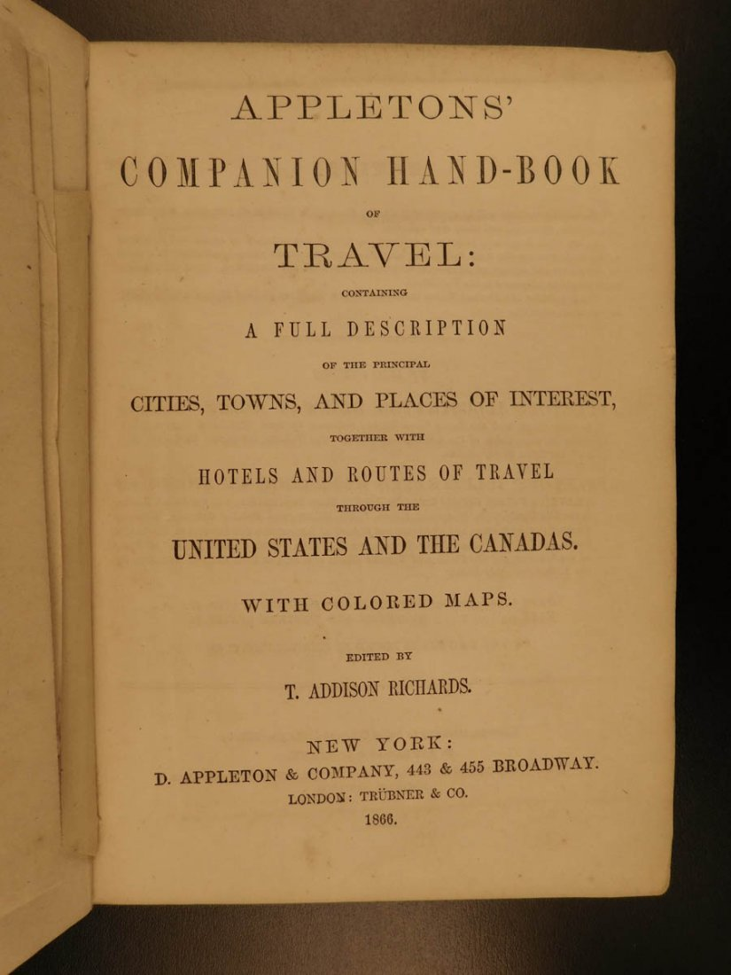 1866 MAPS Atlas Appleton Companion Travel Handbook - 4