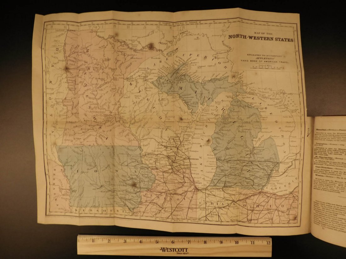 1866 MAPS Atlas Appleton Companion Travel Handbook - 7