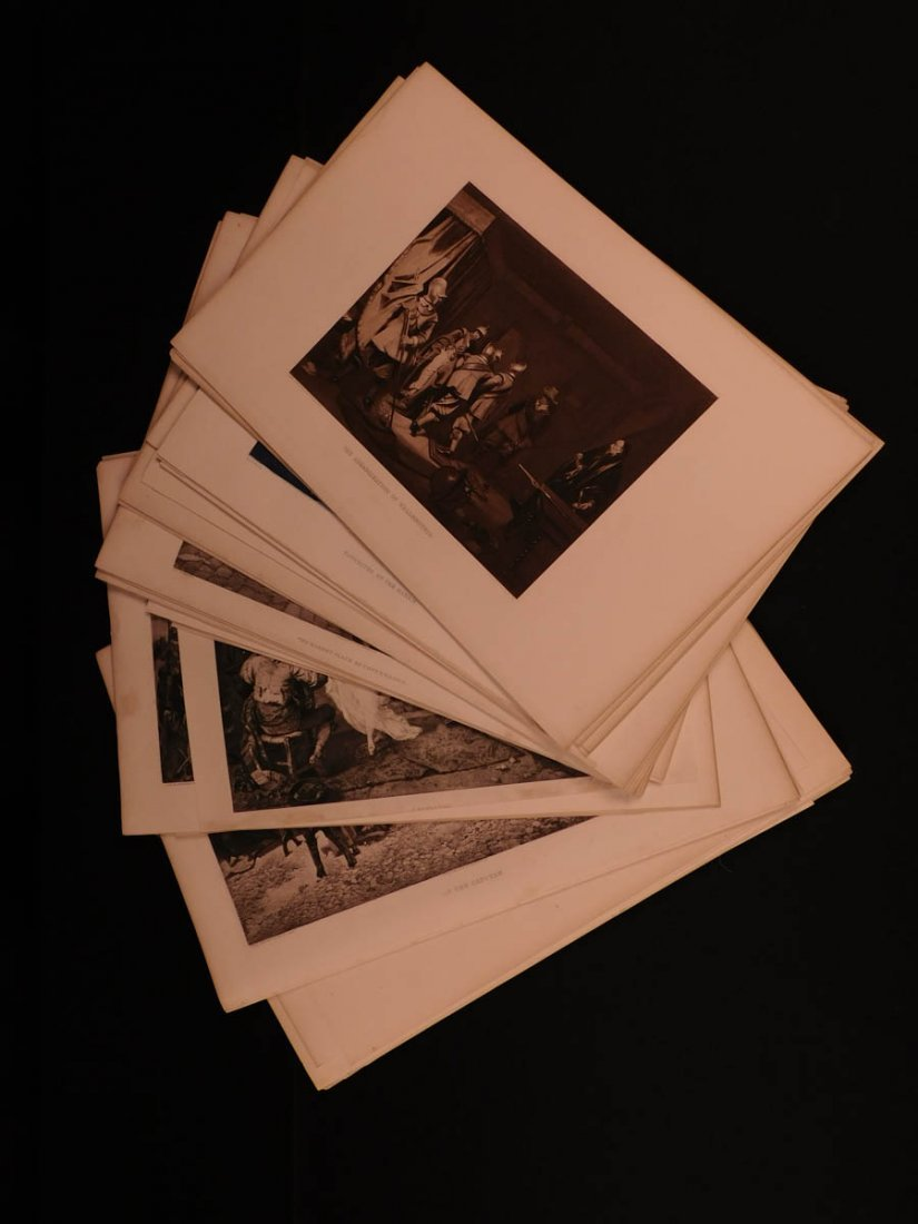 19th-century SET of 75 Illustrated Engravings History