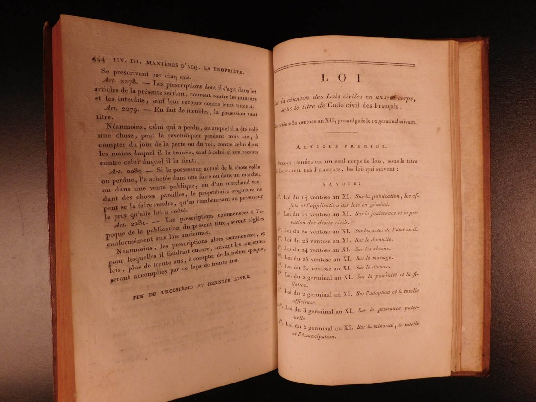 1804 French Civil Code Napoleonic War French Revolution - 8