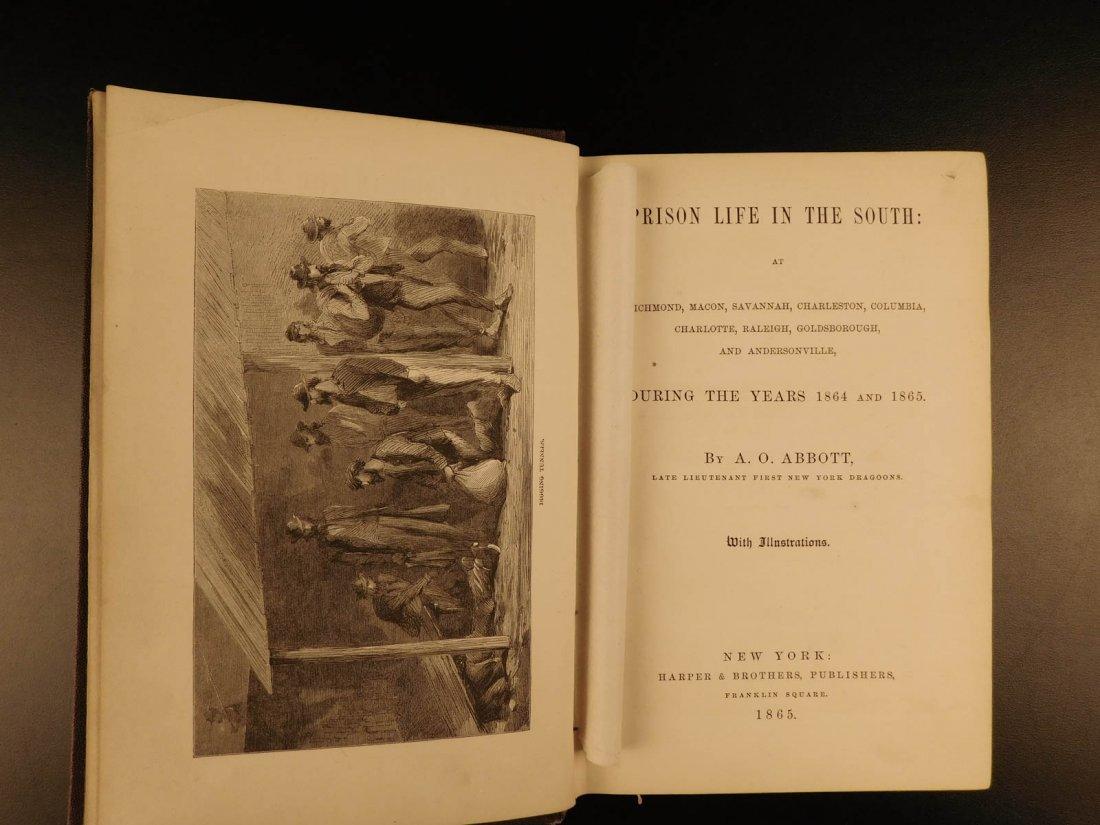 1865 1ed Prison life in the South Civil War