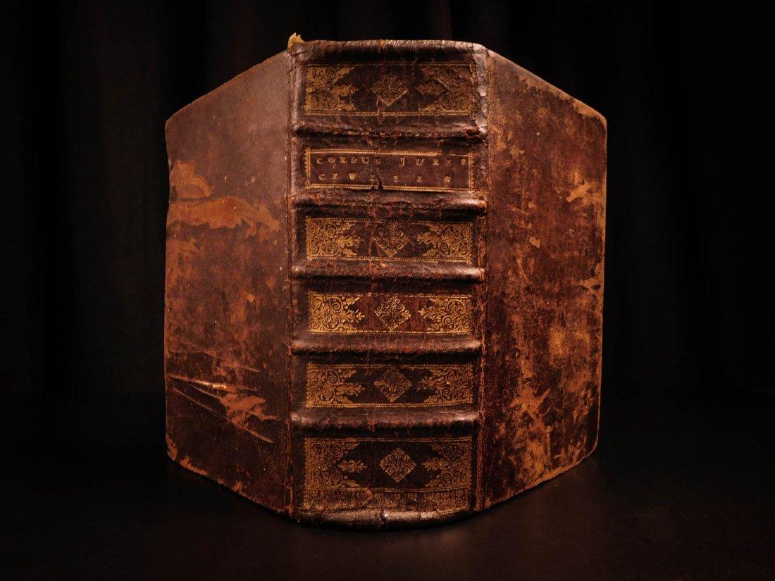 1585 LAW Corpus Juris Civilis Justinian Jurisprudence