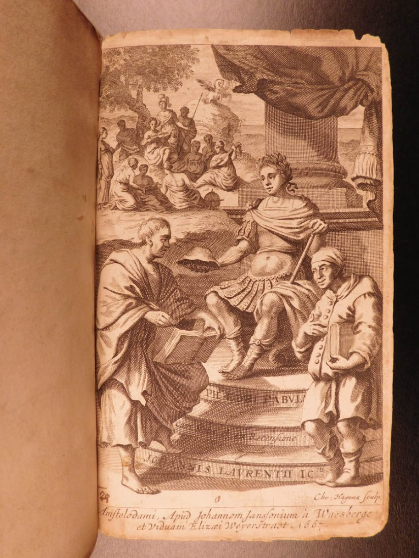 1667 1st ed Phaedrus & Aesop Fables Illustrated