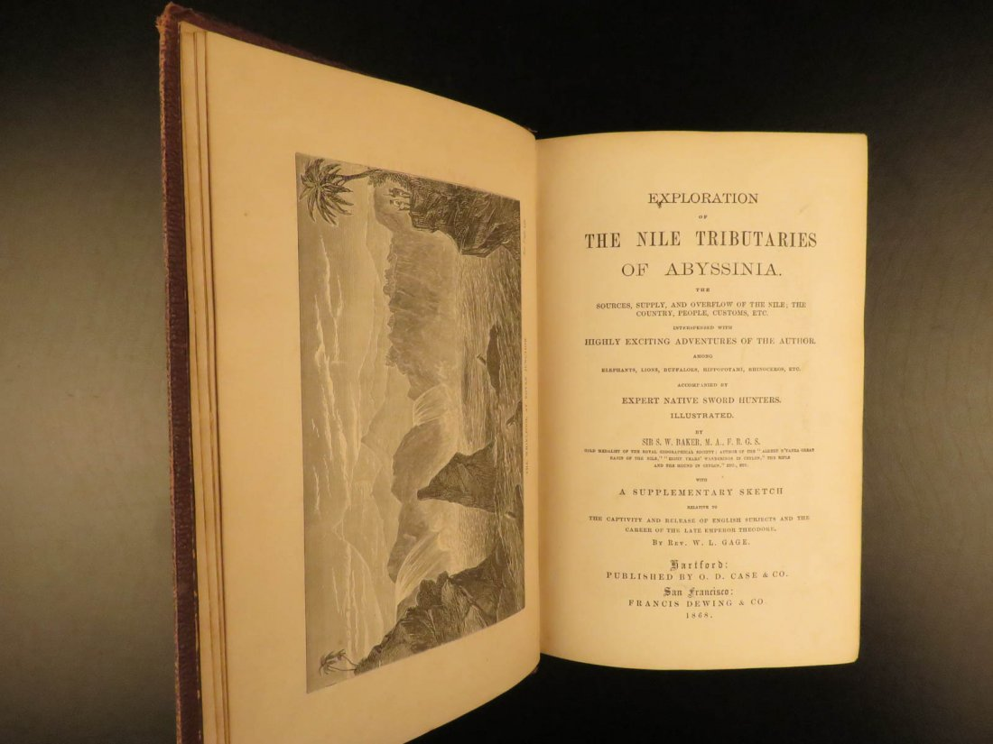 1868 Baker Exploration of Nile Tributaries Africa Egypt