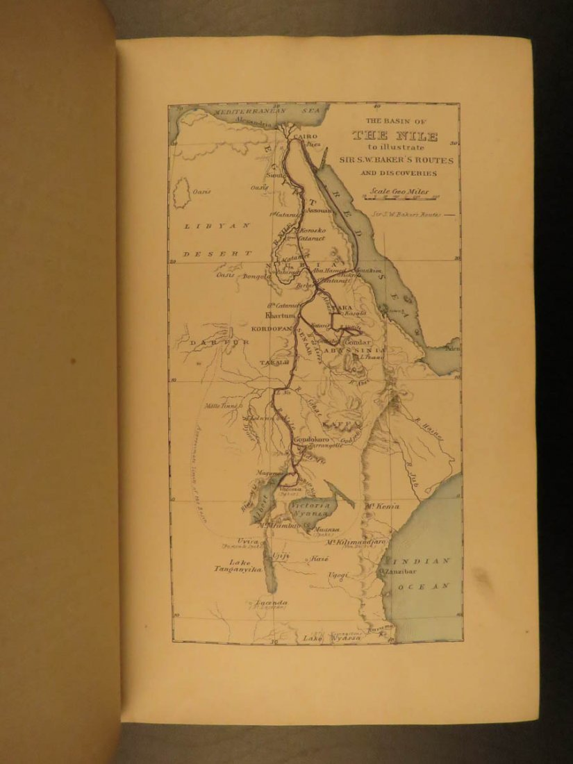 1868 Baker Exploration of Nile Tributaries Africa Egypt - 3