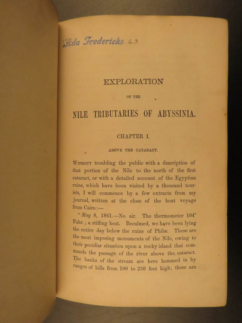 1868 Baker Exploration of Nile Tributaries Africa Egypt - 4