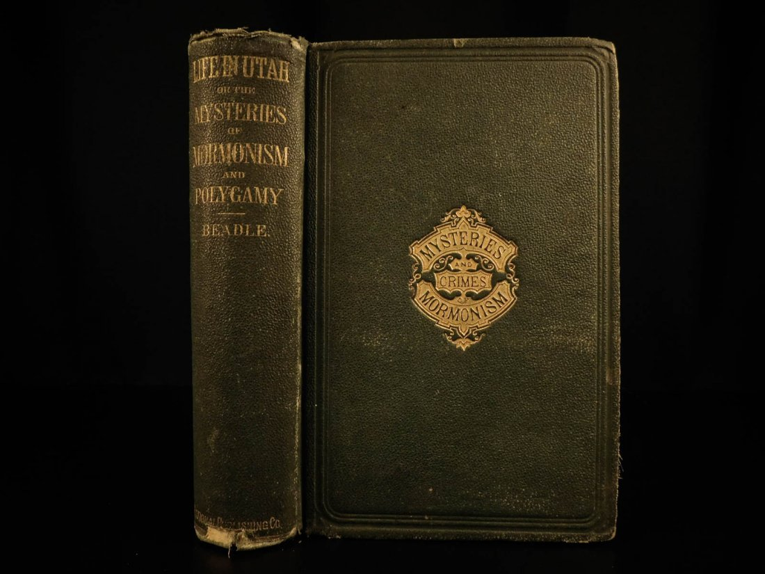 1870 1ed Life in Utah MORMON Polygamy Latter-Day Saints