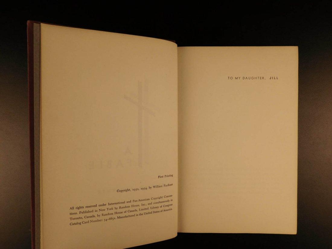 1954 1st/1st William Faulkner Novel A Fable World War I - 8