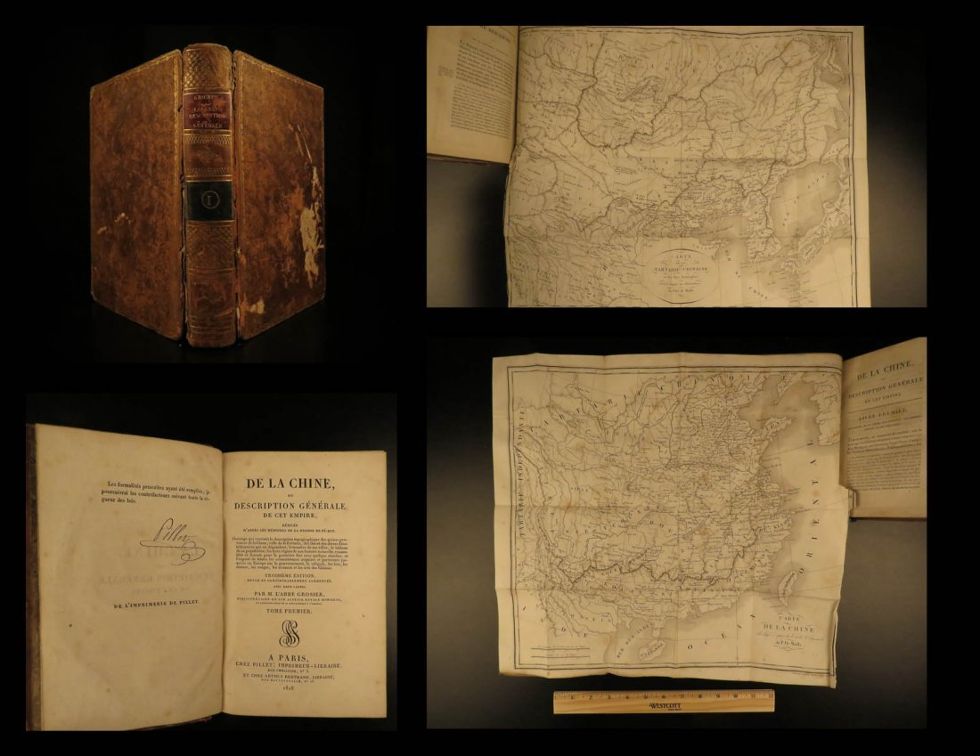 1818 Grosier CHINA Geography MAPS Changchun Fo-kien