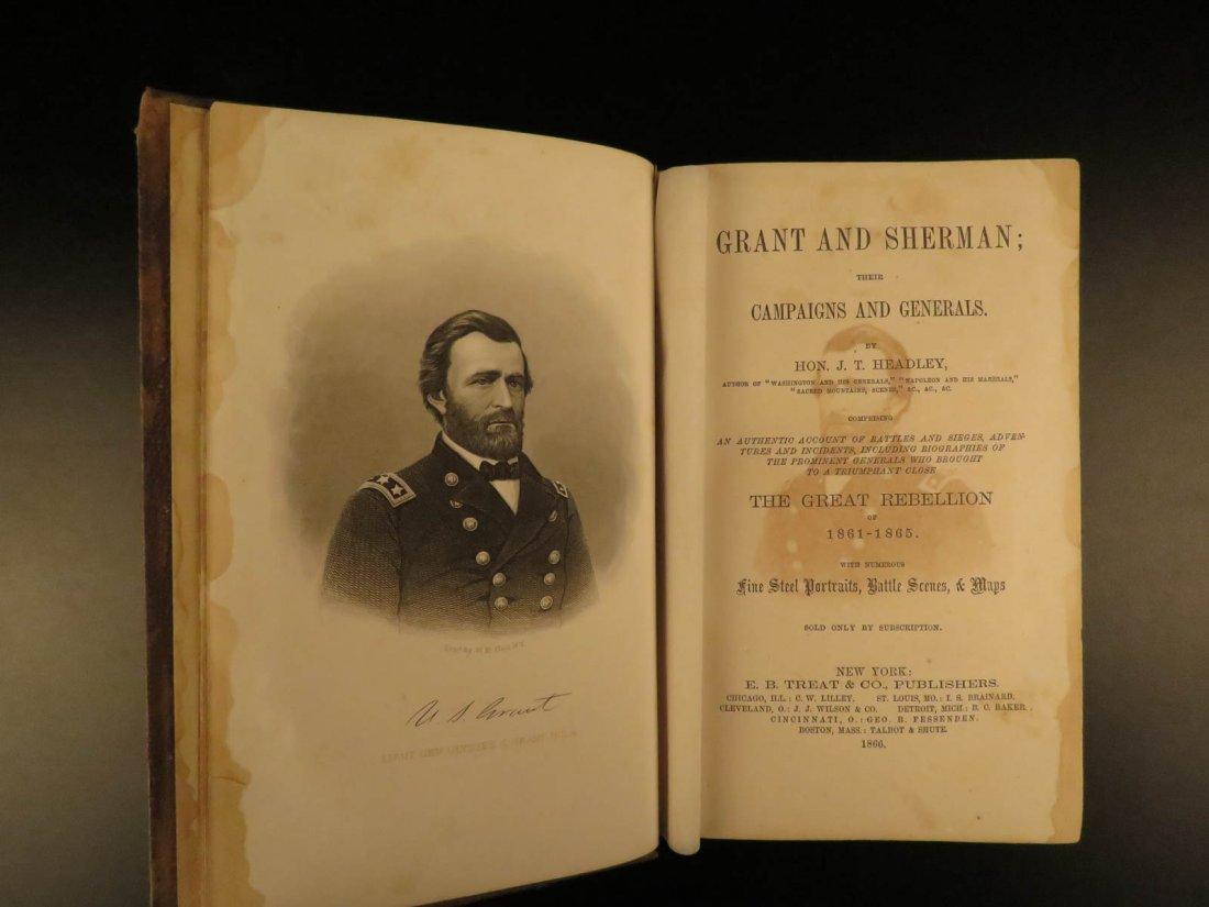 1866 1st ed Ulysses S Grant & W Tecumseh Sherman
