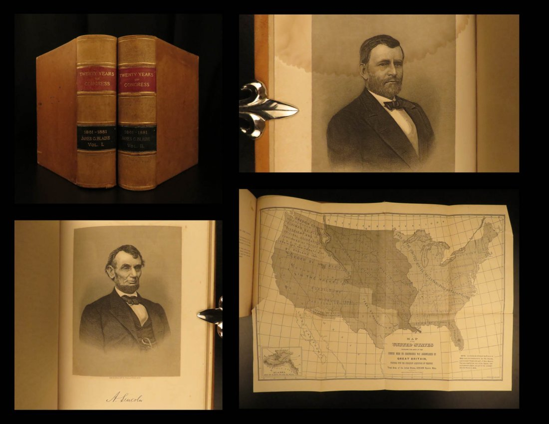 1884 1ed Twenty Years of Congress Blaine Civil War