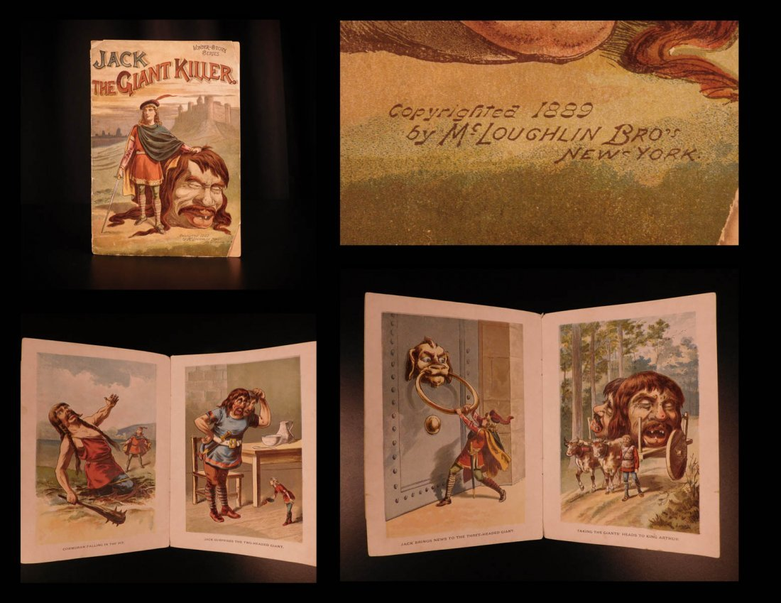 1889 Jack the Giant Killer English Fairy Tale Color