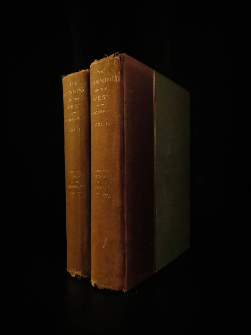 1889 1st ed Theodore Roosevelt Winning of the West