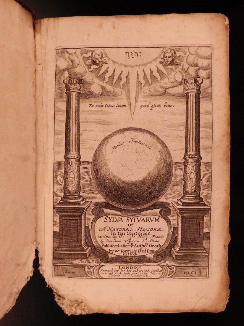 1651 Francis Bacon Sylva Sylvarum Atlantis