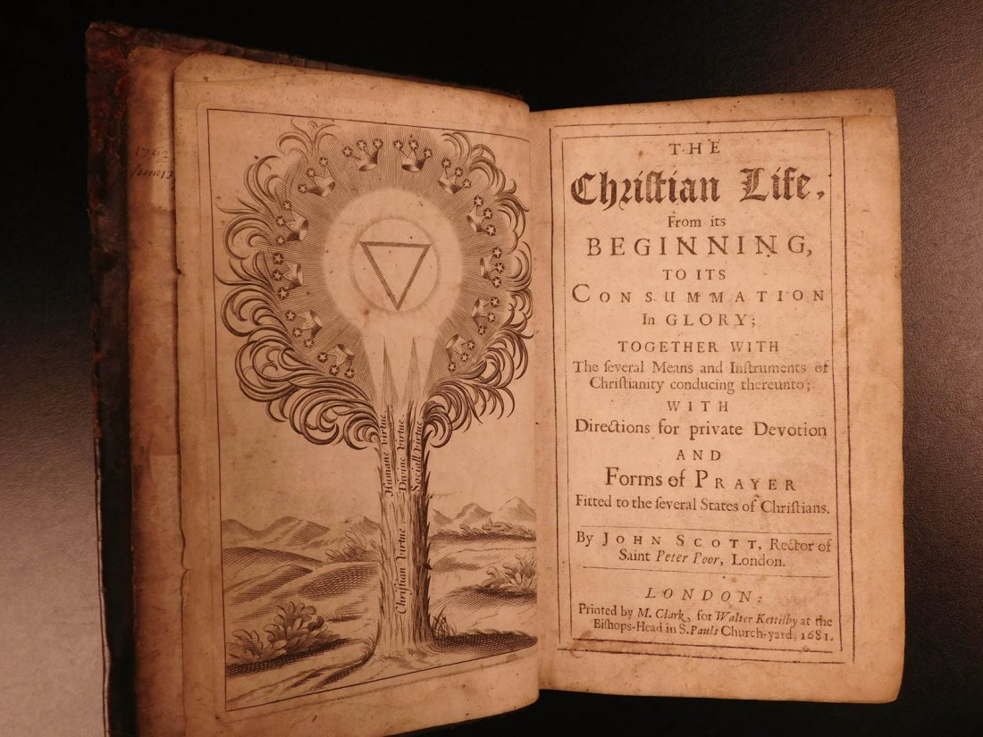 1687 1ed English John Scott on Christian Life Anglican