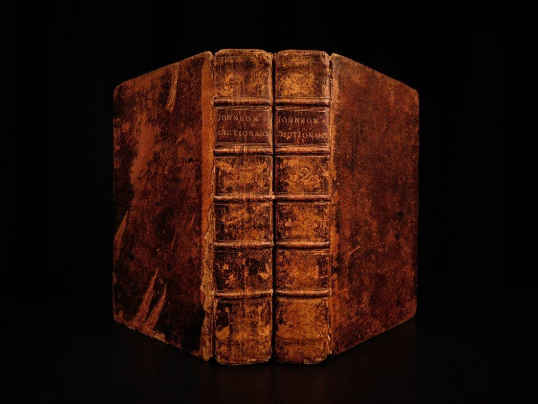 1773 Samuel Johnson FAMOUS Dictionary of English