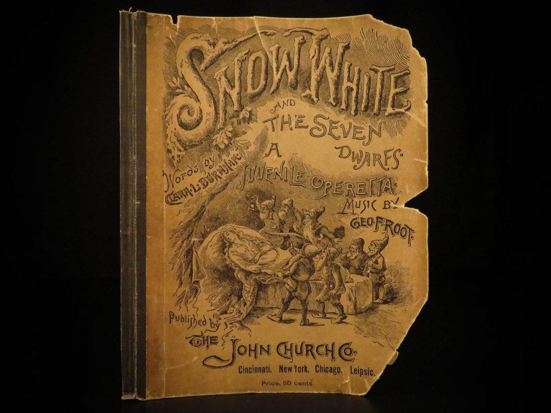 1888 Snow White & the Seven Dwarfs Fairy Tale Operetta