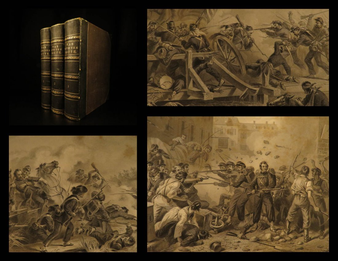 1862 1ed War with South CIVIL WAR Military Tomes