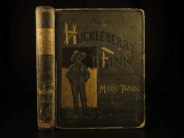 1885 EARLY 1st ed Adventures of Huckleberry Finn Twain