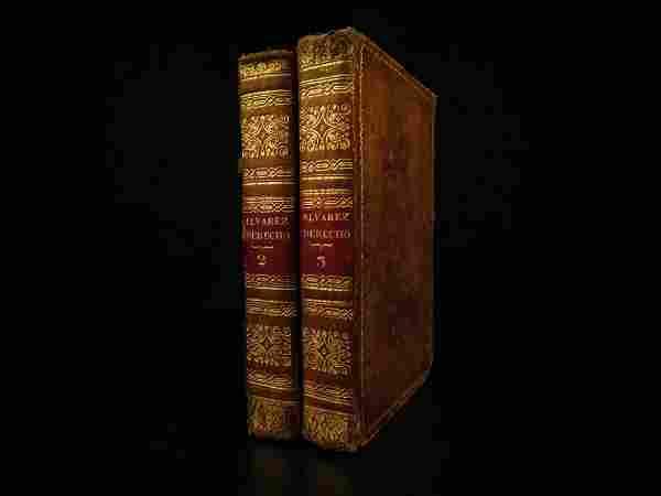 1827 RARE Spanish Law Institutes West Indies Alvarez