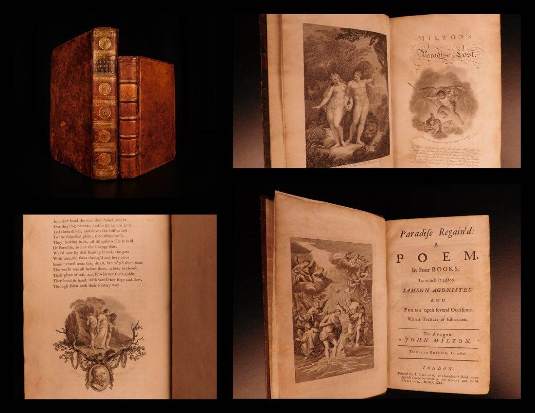 1725 Paradise Lost & Regaind John Milton English Poetry